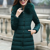 Women's long Coats Slim coat Korean short leather jackets Vest