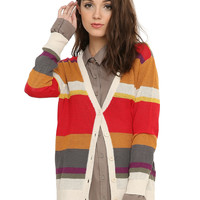 Doctor Who Fourth Doctor Striped Girls Cardigan