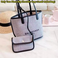 Balenciaga new fashion large capacity cotton and linen shopping bag handbag shoulder bag 3#