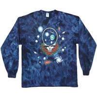 Grateful Dead Men's  Space Your Face Tie Dye  Long Sleeve Multi
