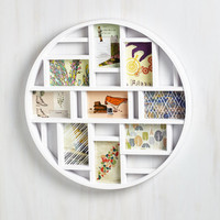 Dorm Decor Round Here Photo Frame in White by ModCloth