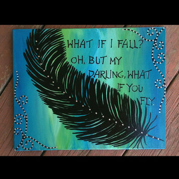 feather painting, silhouette painting, acrylic painting, handpainted art, canvas paintings, wood paintings, feather sign, positive sign