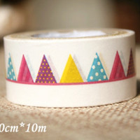 Big Washi Tape Roll - Party Flag Bunting (20mm x 10m) WT679