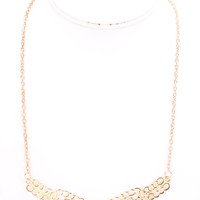 Gold Chain Link High Polish Detailed Egyptian Necklace