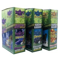Juicy Hemp Wraps 3 Boxes (Tropical Passion,Grapes Gone Wild, & Black n' Blueberry)