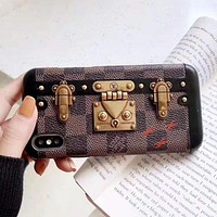 Louis Vuitton LV Fashion New Monogram Print Leather Women Men Protective Cover Phone Case