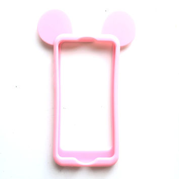 Mouse Ears iPhone Case in Pastel Pink