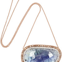 Kimberly McDonald - 18-karat rose gold, tanzanite and diamond necklace