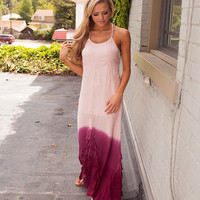Dipped Dyed Maxi Wine
