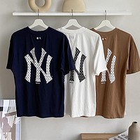 NY 2020 foaming English letter printing short sleeve T- Shirt