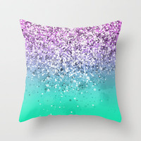 Spark Variations III Throw Pillow by Rain Carnival