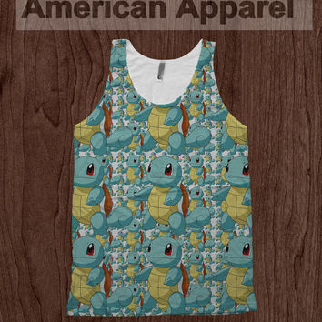 Squirtle Pokemon Tee - American Apparel Tank Top Promethazine Dye Sublimation