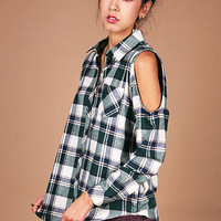 Peek Flannel Button Down | Plaid Tops at Pink Ice