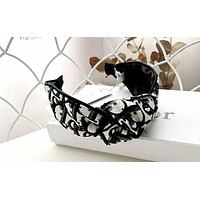 Dior New jacquard embroidery letters women's knotted headband