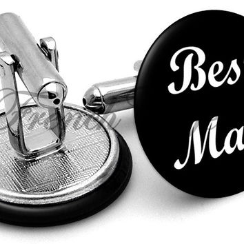 Design #6 Bestman Wedding Cufflinks