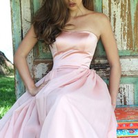 Strapless Long Gown by Sherri Hill