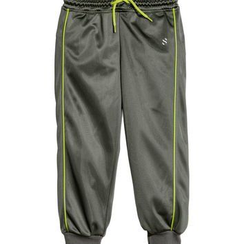 H&M - Athletic Pants - Khaki green - Kids
