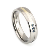 Woman's cute engagement or wedding ring