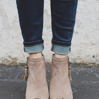Start the Fire Booties - Taupe