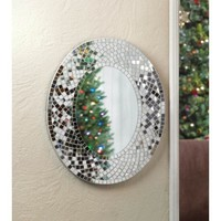 Mosaic Sparkle Oval Wall Mirror