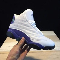 Air Jordan 13 Retro Trending Men Women Basketball Shoes Sneakers White Blue I-CSXY