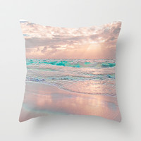 MORNING GLORY Throw Pillow by catspaws