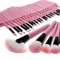 Collections :: Pink 32 pc. Professional Cosmetic Brush Set