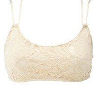 Strappy Caged Lace Bralette by Charlotte Russe