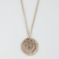 Full Tilt Medallion Necklace Gold One Size For Women 25597362101