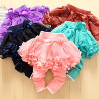 2014 Children Clothes Baby Girl's Pants Kids Baby Girl's Culottes Baby Lace Net Yarn Leggings The New Girls Culottes Children's Casual Pants