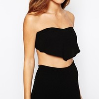 ASOS PETITE Co-ord Hanky Top In Crepe With Tie Back
