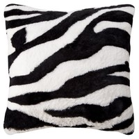 "Xhilaration® Plush Decorative Pillow - Zebra (16x16"")"