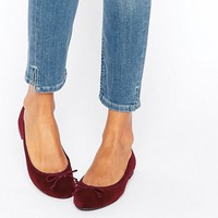 New Look Velvet Ballet Pump at asos.com