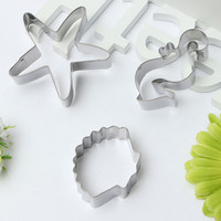 3pcs Seahorse Seashell Starfish Mold Biscuit Cookie Cutter Set Birthday Party