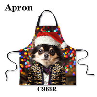 fation women dress housewife christmas kitchen cooking apron house cleaning pinafore sleeveless funny bbq aprons with xmas hat