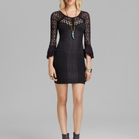 Free People Dress - Textured Stripe Knit City Girl Body-Con