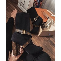 Louis Vuitton LV High heels fashion casual socks and boots