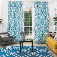 Drapes with Moonlight Monstera