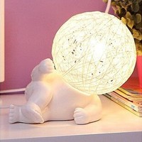 Colorful Bright Creative Dolls Pottery Lights Lovely Children Bedroom Decoration Bedside Lamp [6283388486]