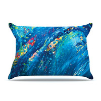 "Theresa Giolzetti ""Big Wave"" Fleece King Pillow Case - Outlet Item"