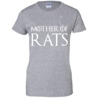 Mother of Rats Mother's day gifts  Ladies Custom 100% Cotton T-Shirt