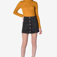Candice Light Ribbed Sweater - Mustard