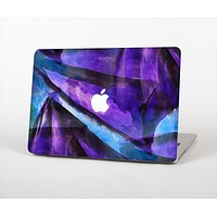 The Grunge Dark Blue Painted Overlay Skin Set for the Apple MacBook Pro 15""