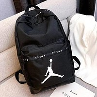 Jordan NIKE Fashion PU Leather School Laptop Shoulder Bag Satchel Travel Backpack