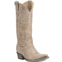 Yippee Ki Yay by Old Gringo Women's Bone with Embroidery Western Snip Toe Boots