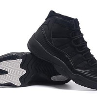 Cheap Air Jordan 11 Original All Black Shoes Hot Sale