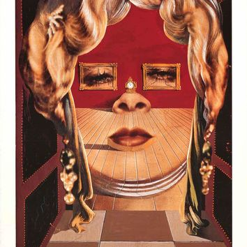 Salvador Dali Face of Mae West Poster 24x36