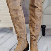 * Colbie Slouchy Over The Knee Boot : Brown