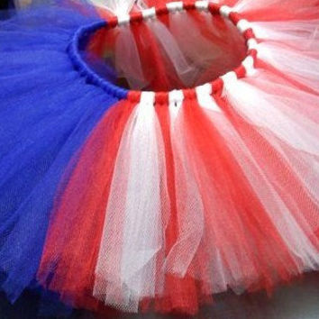 Fourth of July American Flag Tutu in Red, White, and Blue