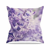 """Angie Turner """"Lavender Dreams"""" Purple Lilac Outdoor Throw Pillow"""